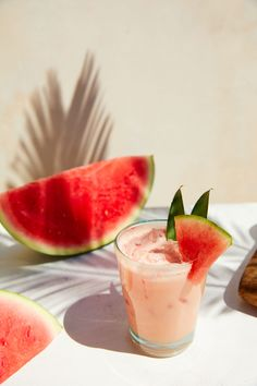 Watermelon Cocktail, Sweet Watermelon, Cold Deserts, Meals For Four, Refreshing Summer Cocktails, Spiced Rum, Cocktail Making, Simple Syrup, Frozen Treats