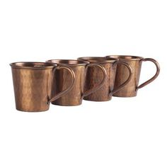 Moscow Mule Solid Copper Mug, Hammered Classic Patina Finish, 12 Ounce, Solid Copper Mugs, Coffee Cups, Tea Cups, Copper Moscow Mule Mugs, Patina Finish, Tableware, Classic, Coffee Mugs, Dinnerware