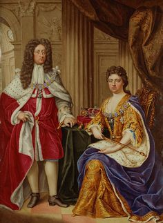 Anne, Queen of Great Britain - Anne with her husband, Prince George of Denmark, painted by Charles Boit, 1706.