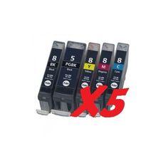 OFERTA!! Pack de 5 cartuchos de tinta Canon, de alta impresión y con un máximo de rendimiento. con un precio bastante bueno