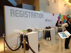 Probably the coolest registration desk you've ever seen!