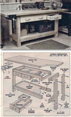 DIY Workbench Plans - Workshop Solutions Projects, Tips and Tricks   WoodArchivist.com