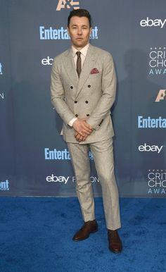 Joel Edgerton wore a Brunello Cucinelli double-breasted suit.