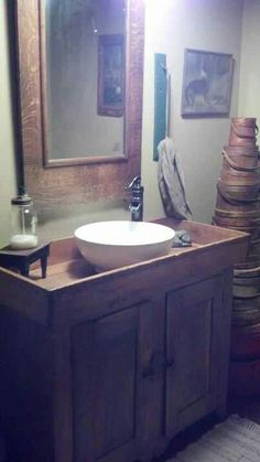 dry sink and real sink I have one just like it.  I just love this.  I have something similar in my bathroom.