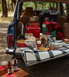 Party Planner: Tailgating with 7-layer dip - Corn Salad - Baked Mac-n-Cheese Bites - grilled Sausages, Burgers and Tri-tip - Chocolate chip-pecan bars