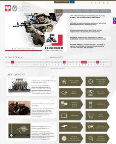 Web Design, Army, College, Military, Warsaw, Poland, Website, Design Web, University
