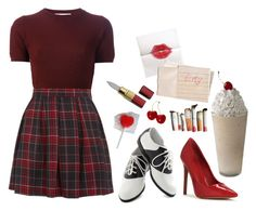 """audrey horne"" by yousickbastard ❤ liked on Polyvore featuring Hahn, Marni and Pinup Couture"
