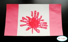 Happy Canada Day! Make a flag for different countries the kids learn about.