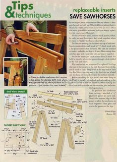Replaceable Inserts Save Sawhorses - Workshop Solutions Plans, Tips and Tricks   WoodArchivist.com