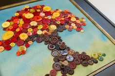 button tree art-- I love this. I want a button collection-- so if you are getting rid of clothes save me the buttons! art design landspacing to plant Button Tree Art, Button Art, Button Crafts, Crafts To Do, Fall Crafts, Crafts For Kids, Diy Crafts, Crafty Craft, Crafting