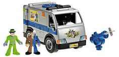 Fisher Price DC Super Friends Batman Imaginext Two-Face Armored Car & The Riddler Exclusive 3-Inch Figure Set