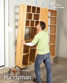 DIY:  How To Build Garage Storage Cabinets From Plywood - great post shows how to build cabinets that suit your needs so you can get the garage organized.