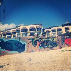 en Playa del Carmen QR #streetart #arteurbano #streetartmexico