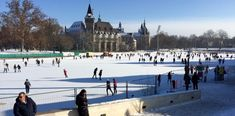 Europe's largest outdoor ice skating rink (the Műjégpálya) Visit Budapest, Budapest Travel, Budapest Hungary, Budapest Winter, Outdoor Ice Skating, City Break, Travelogue, Time Of The Year, Park City