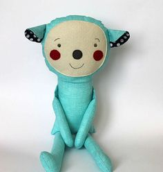 Cecil, child friendly doll - stuffed animal toy for kids. $39.50, via Etsy.