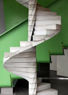 ☝☟escadas - Interesting article on Dezeen regarding a concrete spiral staircase concept Stair Steps, Stair Railing, Grand Staircase, Staircase Design, Escalier Design, Beton Design, Concrete Design, Beautiful Stairs, Stair Detail