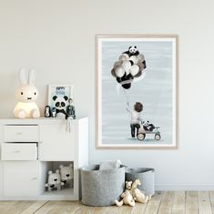Perfect Art print for children's room for boys! Panda bears are just the cutest Boy Room, Kids Room, Panda Bears, All Art, Nursery Decor, Art Prints, Boys, Collection, Home Decor