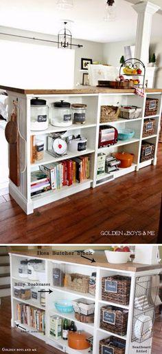 Genius Kitchen Makeover Ideas That Would Save You Money Ikea Bookshelf Haca Billy