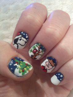 snoopy christmas #nail #nails #nailart