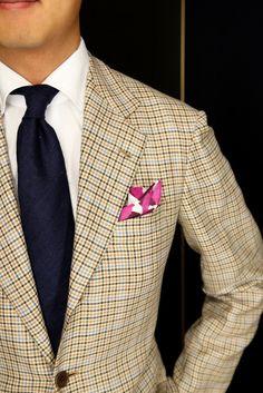 Liverano Jacket and Navy Raw Silk Drakes Tie.