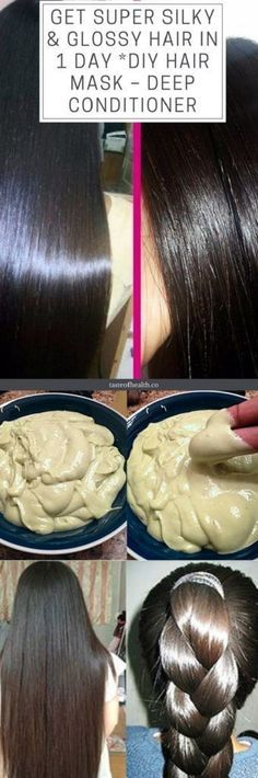 GET SUPER SILKY & GLOSSY HAIR IN 1 DAY | DIY HAIR MASK – DEEP CONDITIONER #hair #beauty #style #mask Silkey