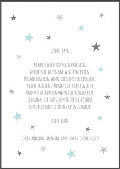 The gift for the christening of the godchild to godmother or godfather, a personalized print by bei.werk in ** turquoise / gray, pink / gray or blue / gray ** DIN printing by beiwerk, / m², … Source by versander Bad Spirits, Quotes Deep Feelings, Godchild, Previous Life, Love Symbols, The Godfather, Social Platform, Life Skills, Kids And Parenting