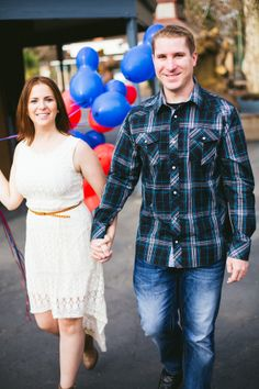 Disney Themed Engagement Shoot at Funderland Amusement Park| Photo by:  Crystal Shreeve Photography