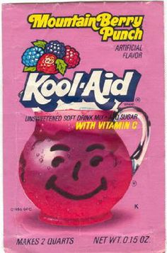 I would probably commit murder to get my hands on some of this.  As a child, it was my crack.  - Mountain Berry Punch Kool-Aid