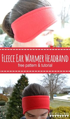 DIY Fleece Ear Warmer Headband- Full tutorial on how to make your own fleece ear warmer headband with pictures for each step and a printable pattern