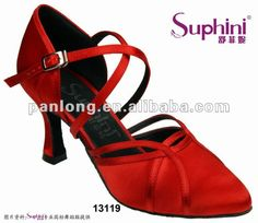 Chaussures professionnelles de flamenco d'orteil de fin de rouge pour des dames--Id du produit:619204303-french.alibaba.com