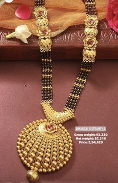 Gold jewelry Box Vintage - Delicate Gold jewelry - - - Antique Gold jewelry With Weight Gold Mangalsutra Designs, Gold Jewellery Design, Bead Jewellery, Bridal Jewellery, Pendant Jewelry, Beaded Jewelry, Jewelry Box, Pendant Necklace, Gold Jewelry Simple
