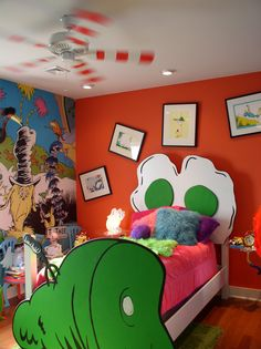 Extreme Makeover: Home Edition in Tennessee. Doesn't every kid need a Dr. Seuss design stage?