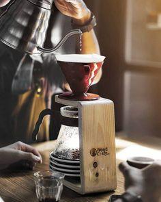 Day Off, V60 Coffee, Coffee Maker, Kitchen Appliances, Wood, Coffee Maker Machine, Diy Kitchen Appliances, Coffee Percolator, Home Appliances