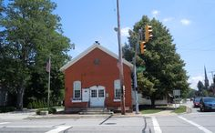 Avon Old Town Hall of 1871 - home of the Avon Historical Society.   Corner of Detroit Road and Stoney Ridge Road.