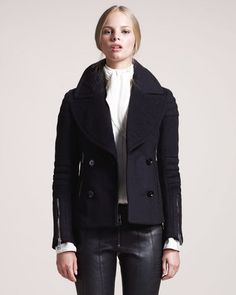 fashion & style - ShopStyle: Belstaff Dallington Cropped Pea Coat