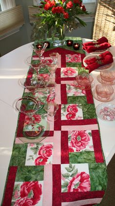 Runner Fullshot Vintage Tablecloth Quilts Free Project by Rose Sheifer for C Publishing. Project for next Christmas...woot woot.