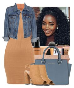 """"" by wavyjai on Polyvore featuring Levi's, MICHAEL Michael Kors and Boohoo"