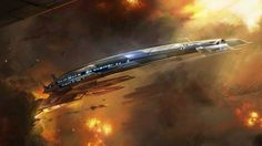 Wallpaper mass effect normandy core of galaxy spaceship art