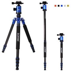 Zomei Z818C Professional Travel Tripod Partial Light Weight Carbon Fiber Tripod With Bag (Blue)