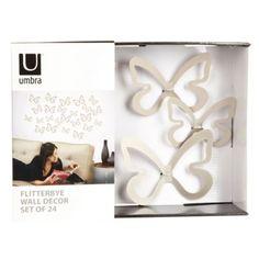 Umbra Silver 'Flitterbye' wall decor butterflies- at Debenhams Mobile