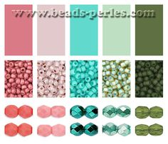 Combinaciones de color: Paleta 2 - Beads Perles Boutique