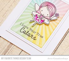 Hello! Today we have new sketch on MFT Challenge blog for the next week. And I used almost literally this time. I love the simplicity of this sketch and you can turn the main details into something special. For my card I played with Fairy Happy stamp set from the last June release. The fairies are pretty big so you can use them as the focal point of your cards with adding the minimum of additional details. I colored one girl with my pink Tombow Dual Brush pens and she took the place of the…