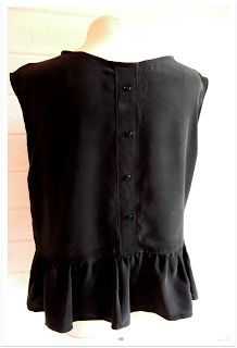 Miss P: Refashions: Silk Peplum Top & Skinnified Jeans