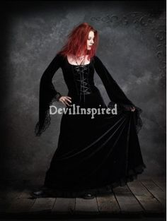 Black Lace and Ribbon Princess Gothic Dress