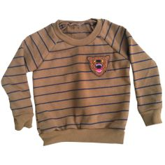 Bad Bear Striped RaglanColor: Coffee/Navy70%Cotton 30% PolyesterMade In USA