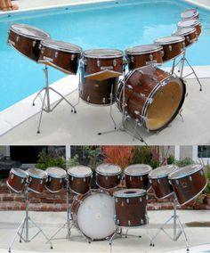 Vintage Slingerland kit that belonged to Neil Diamond drummer Dennis St John, and appear in the Jazz Singer movie and soundtrack