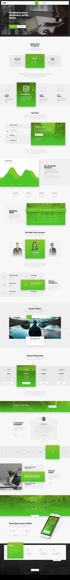 QUZE. — Business PSD Template • Download ↓ https://themeforest.net/item/quze-business-psd-template/14897910?ref=pxcr