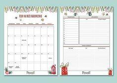 Świąteczny planner i lista zakupów - darmowy, do druku! #BożeNarodzenie #prezenty #planner #listazakupów #Christmas Minka, Bullet Journal, Diy, Bricolage, Do It Yourself, Homemade, Diys, Crafting