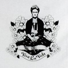 tartx: featuring the art of Tiffini Elektra X - Frida Kahlo Viva La Vida Flour Sack Towel