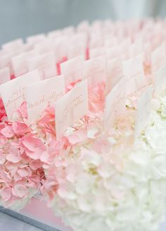 Escort Cards, Place Cards, Wedding Seating Chart, DIY wedding || Colin Cowie Weddings